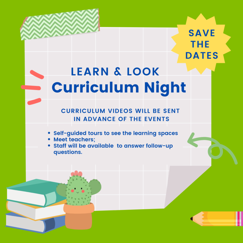 Learn & Look - Curriculum Night Events! Featured Photo