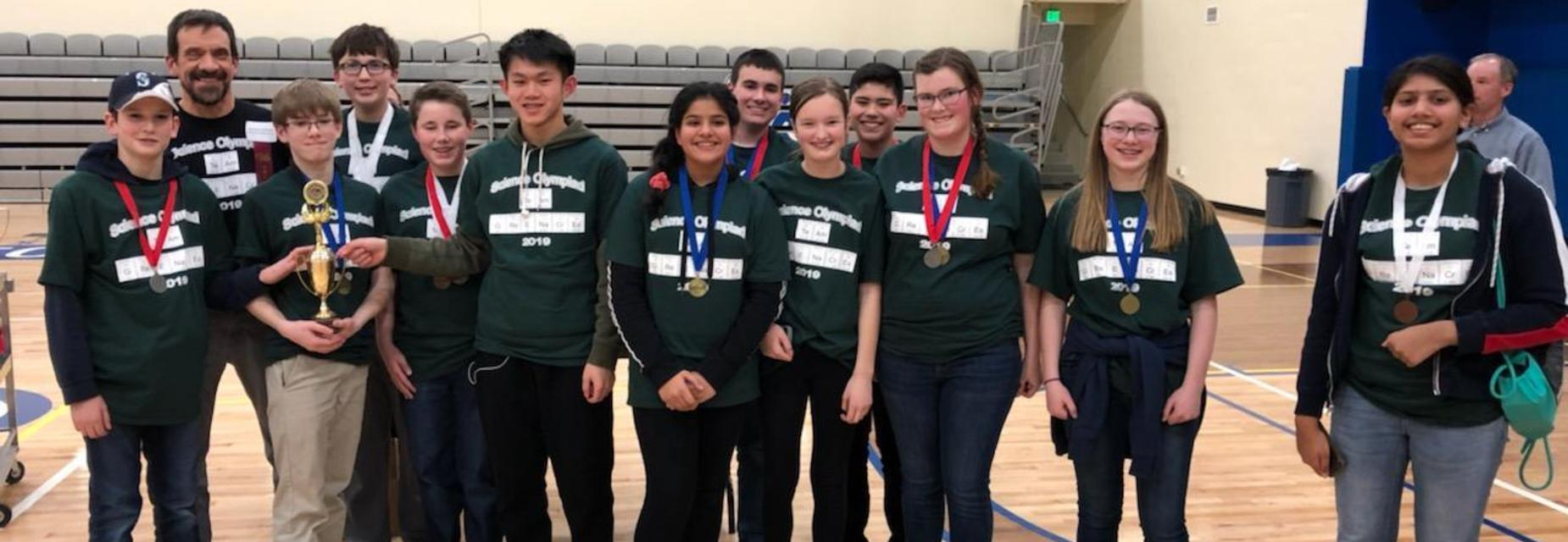 Science Olympiad team earns 3rd place win at Regionals