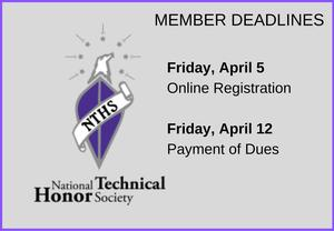 NTHS Member Deadlines