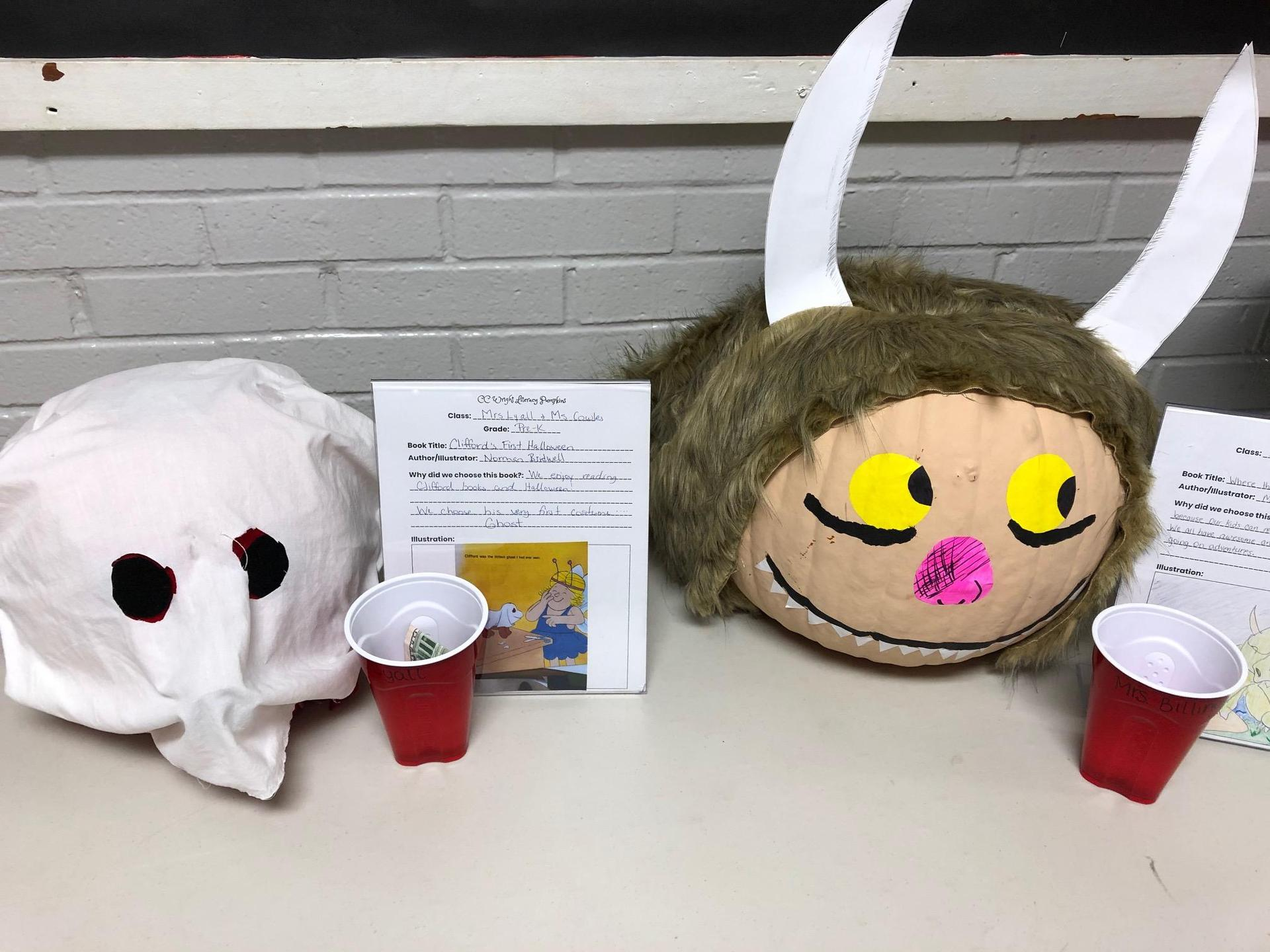 Clifford and Where the Wild Things Are pumpkin