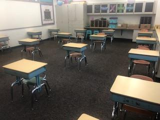 Example of Social Distancing in a Middle School Classroom
