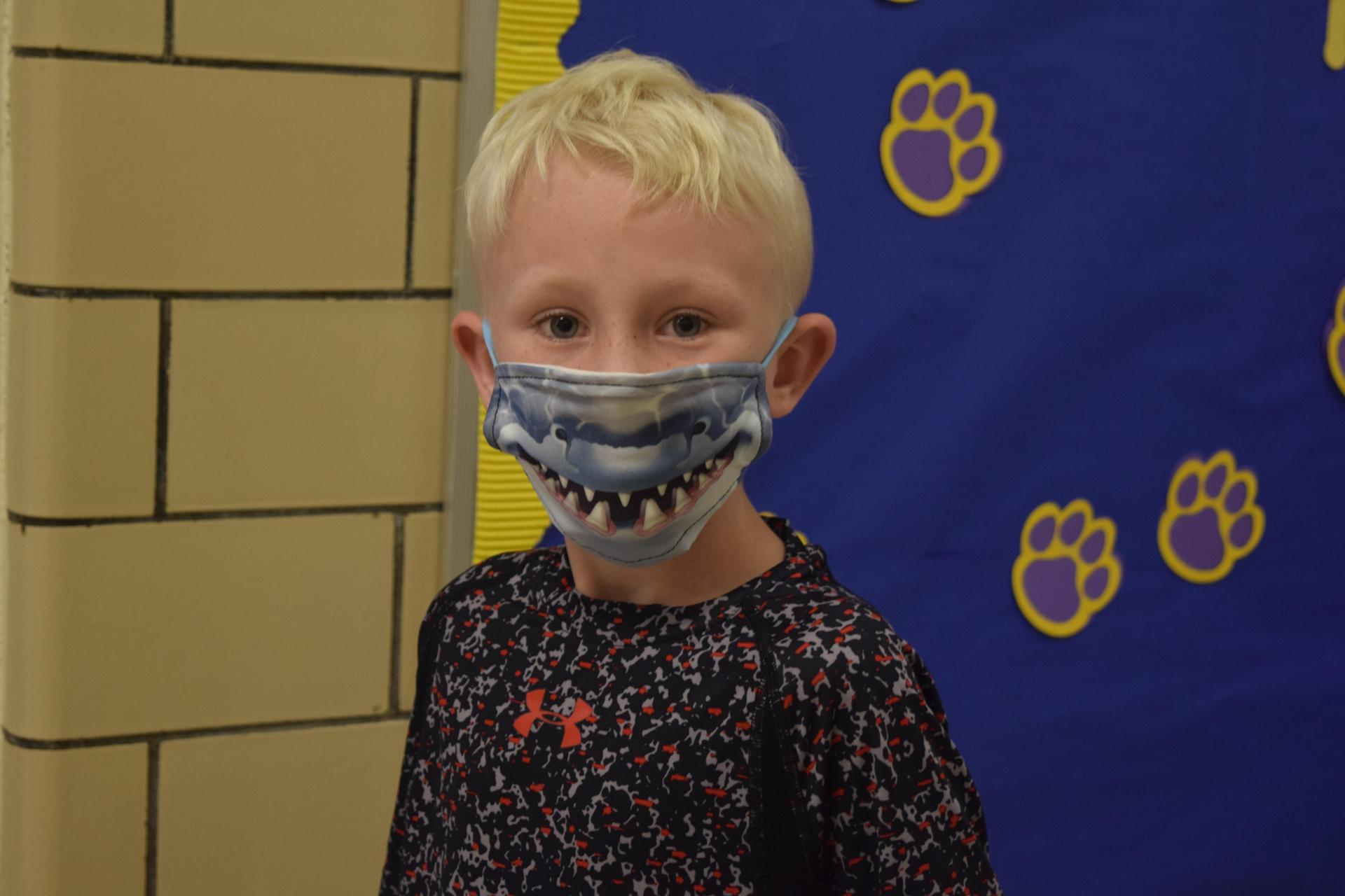 McLaurin Student in Mask