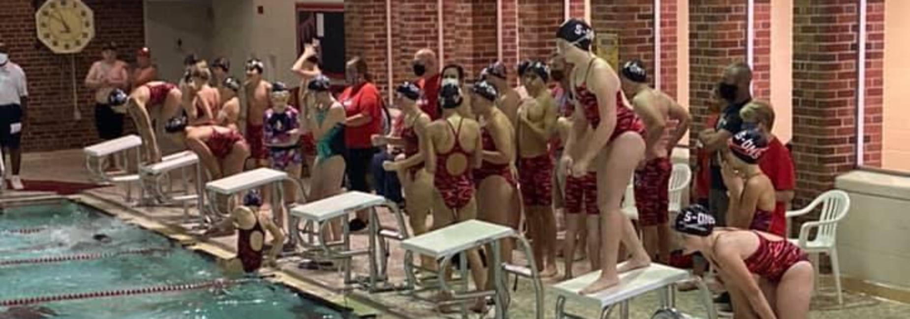 Some Test students competing on the RCS Intermediate Swim Team
