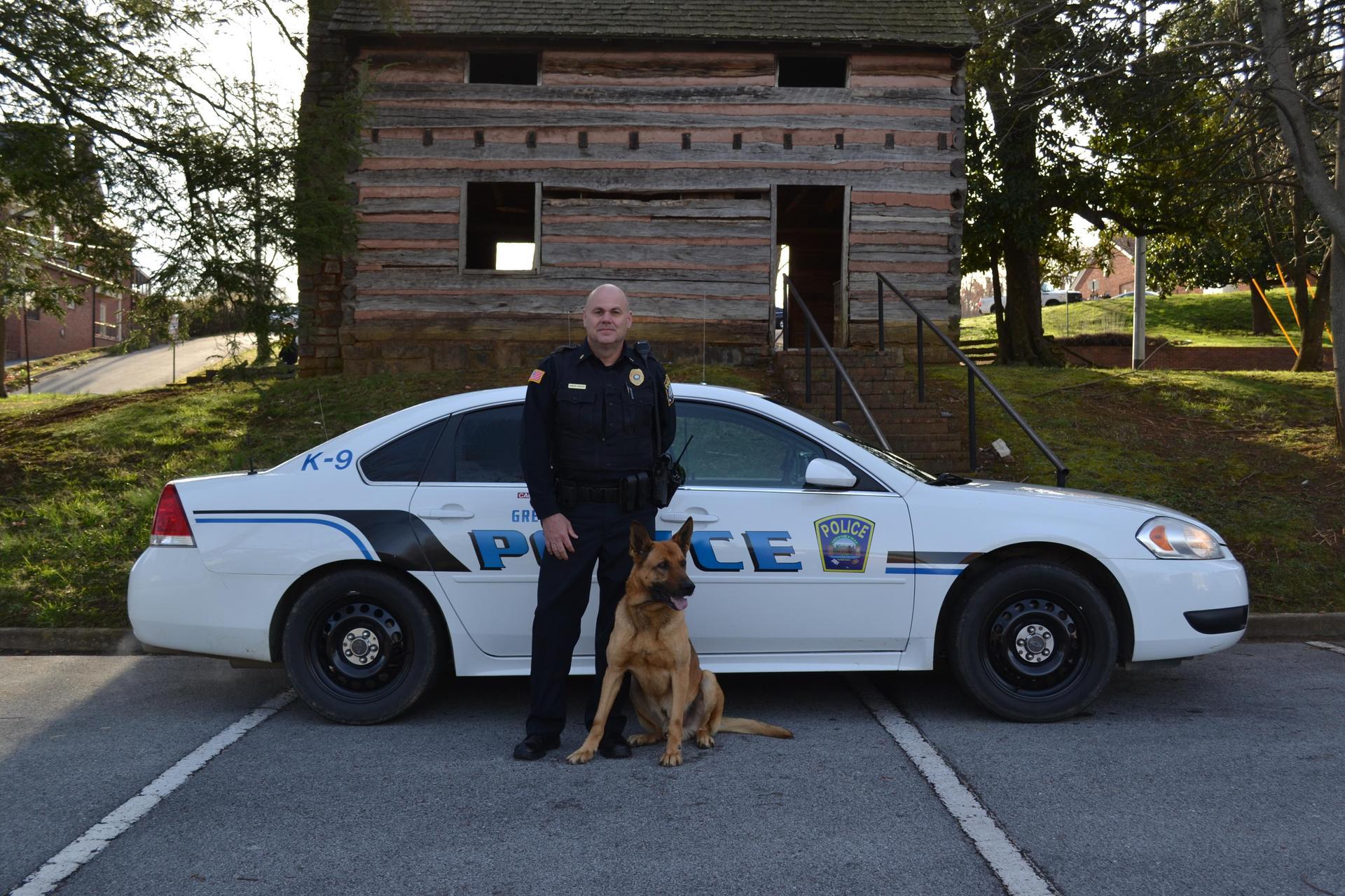 Officer C Spradlin and Kajo