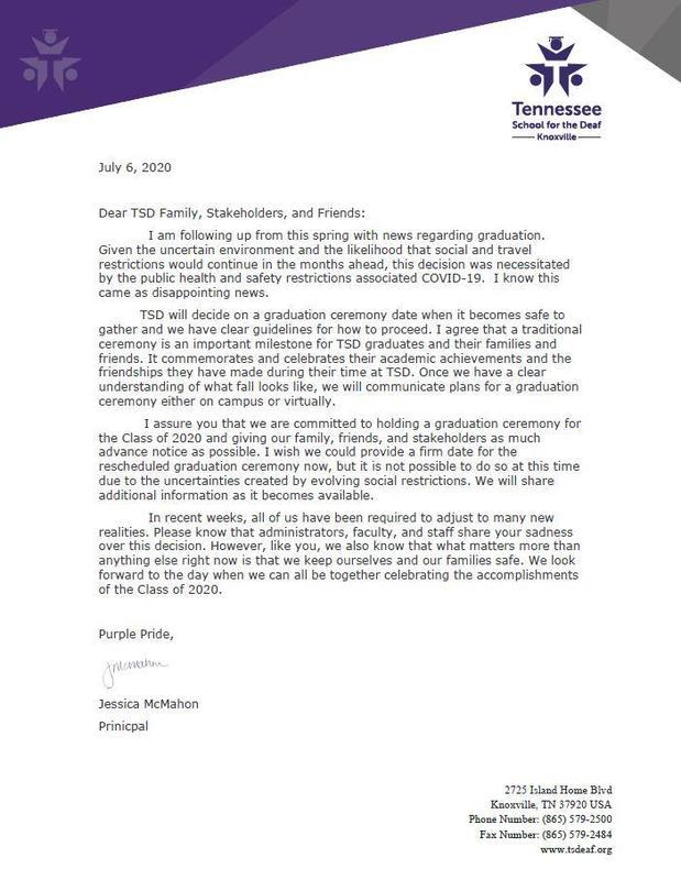 grad letter
