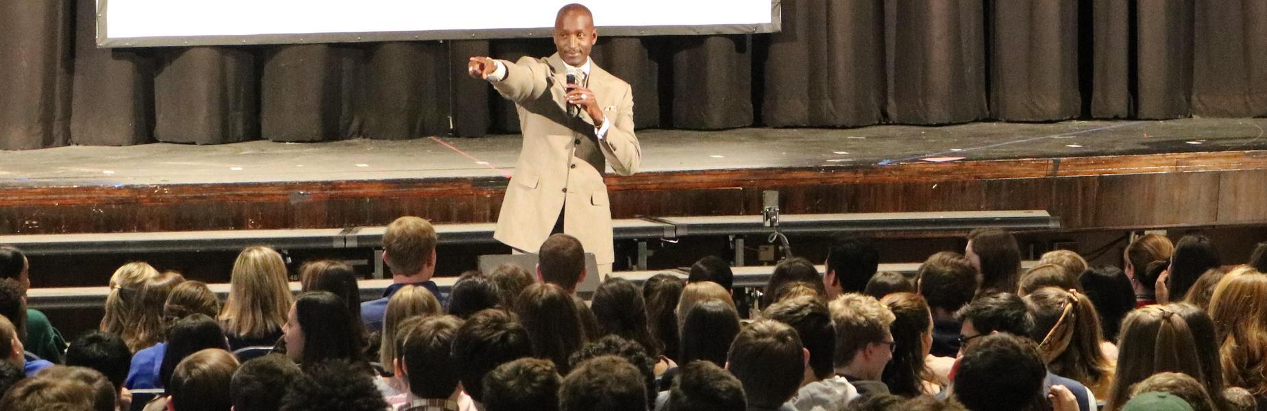 Dr. Randal Pinkett visits WHS on Feb 1 for an inspiring Black History Month assembly.