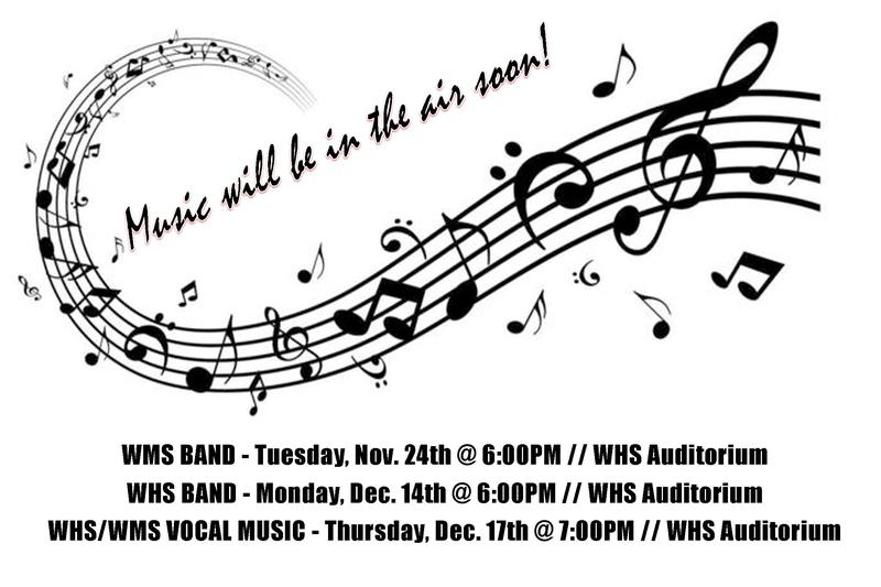 Concerts Coming Up @ WHS!