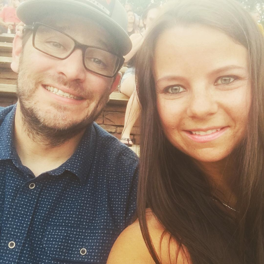 My Husband Danny & I at a Red Rocks concert!