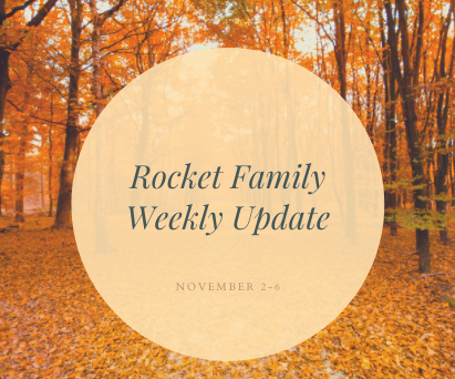Rocket Family Weekly Update - November 2-6 Featured Photo