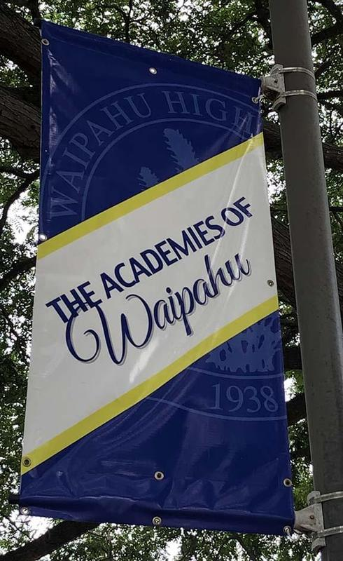 Academies of Waipahu High flag