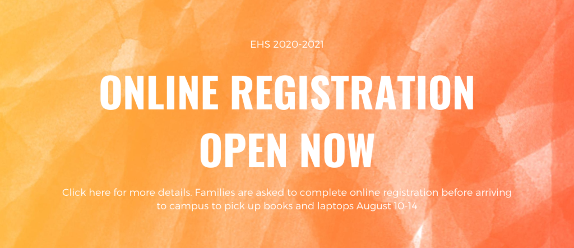 online registration open now