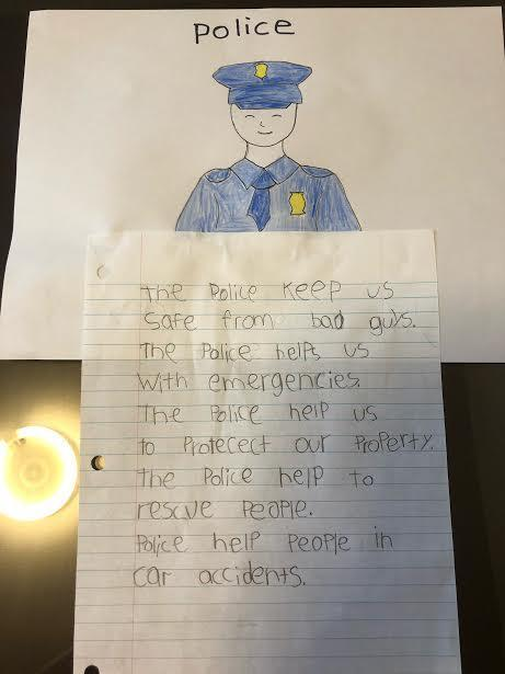 Police drawing and explanation
