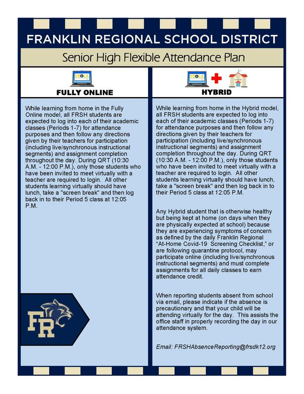 Senior High Flexible Attendance Plan