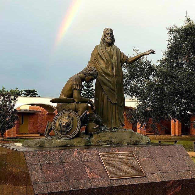 Centurion with rainbow