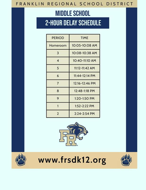 FRMS 2-Hour Delay Schedule Featured Photo