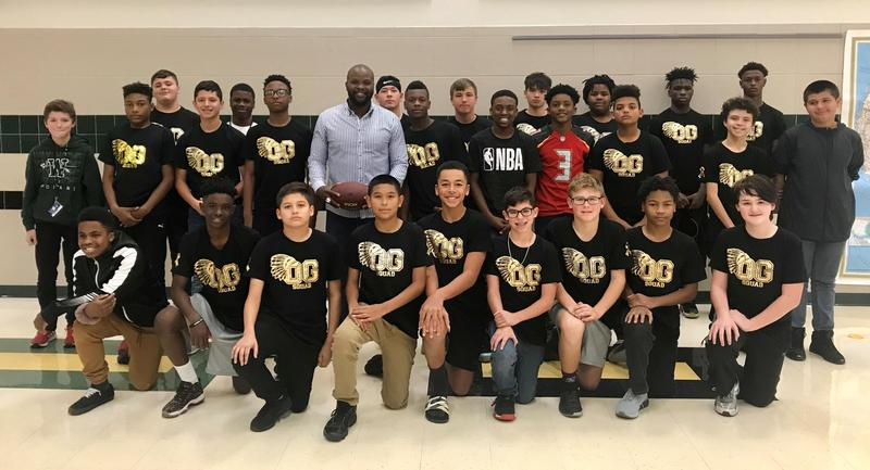 Bethel Johnson visits Coleman Junior High