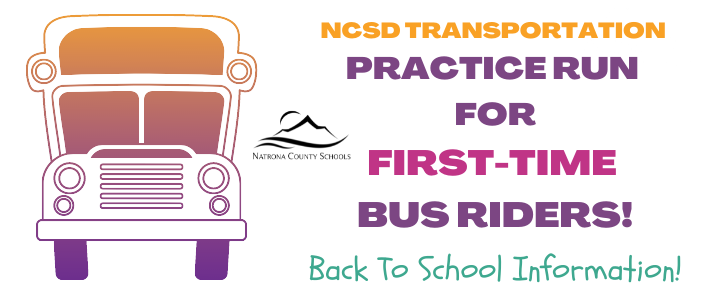 NCSD Transportation Practice Run for First-time bus riders graphic