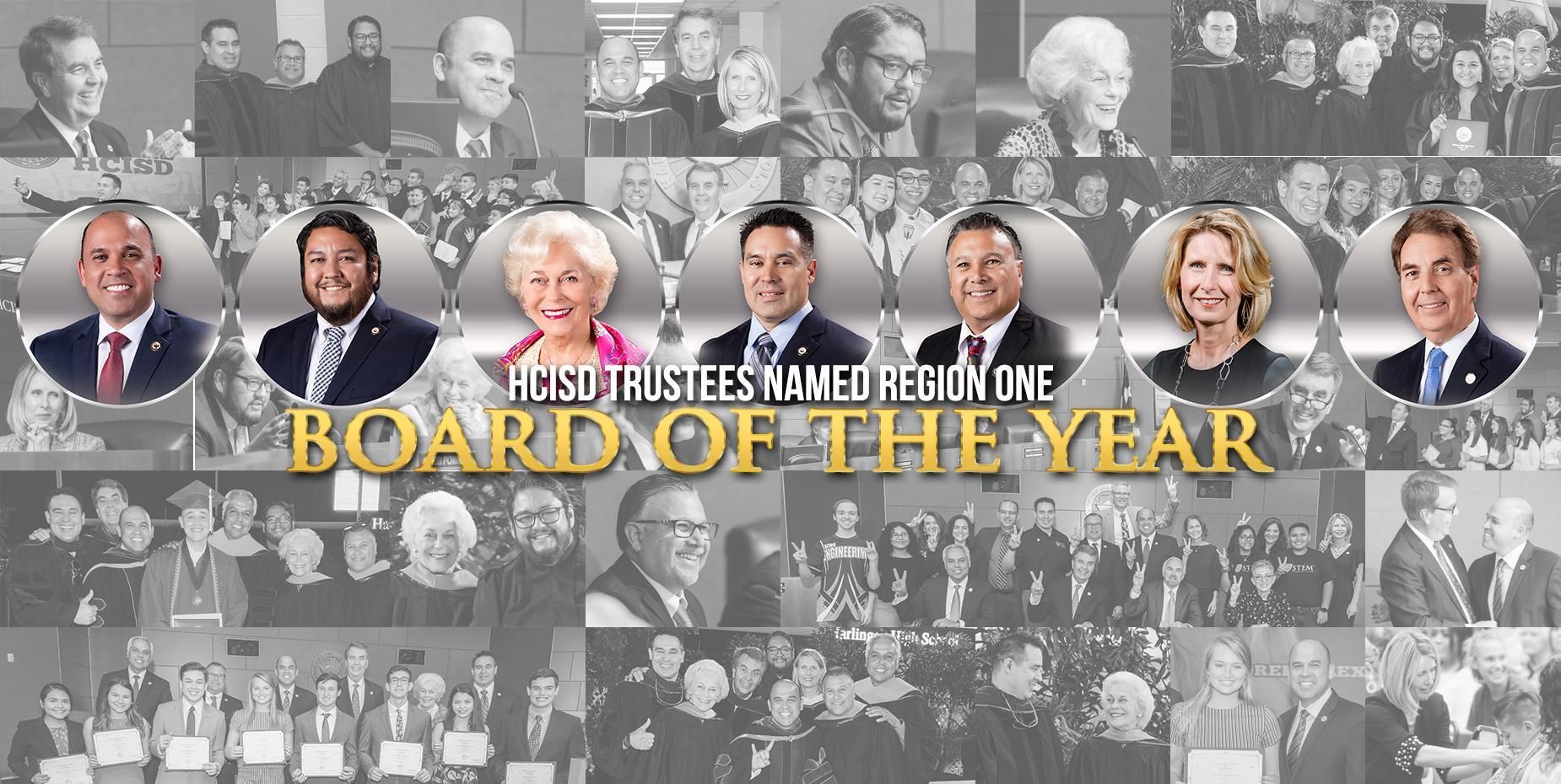 HCISD Board of Trustees Recognized as Region 1 Board of the Year