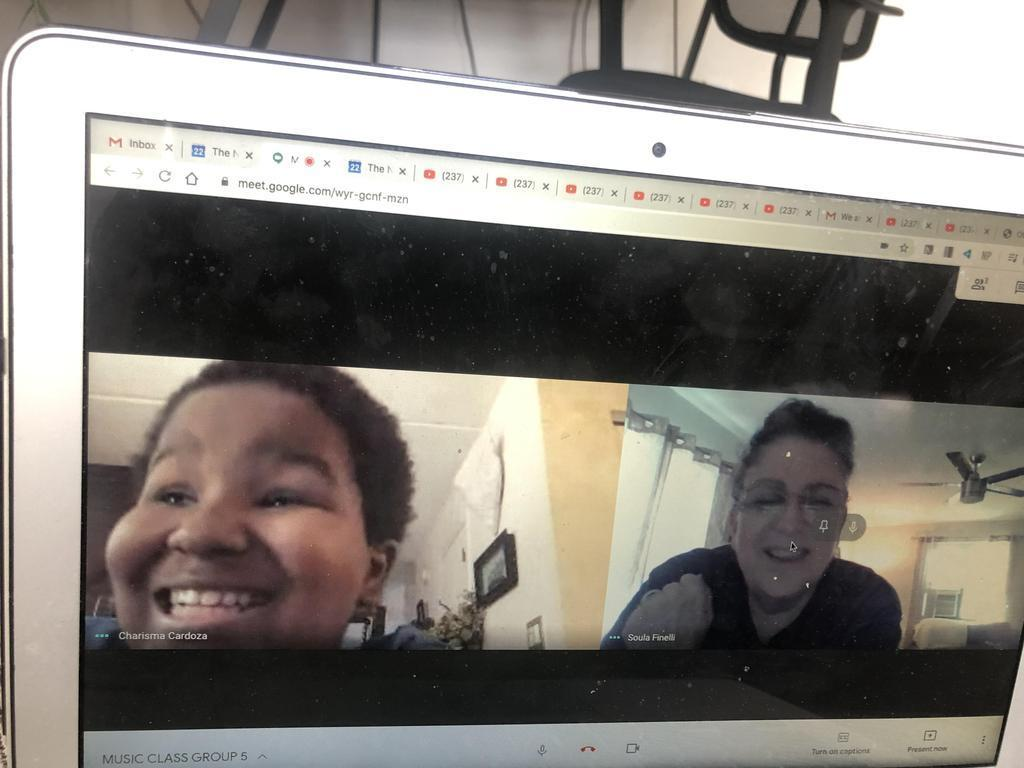 Students  in Remote Learning
