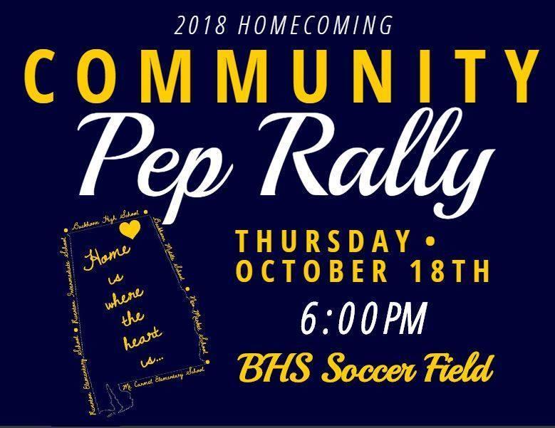 Buckhorn Community Pep Rally Flyer
