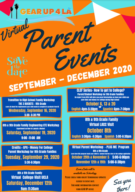 Gear Up Virtual Parent Events Thumbnail Image