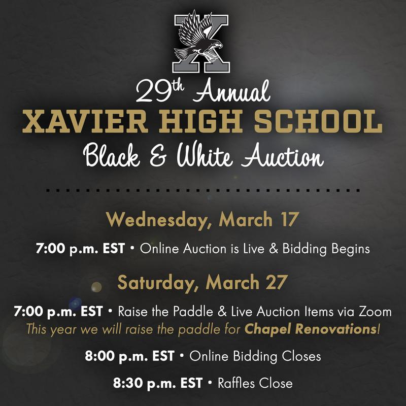 2021 Black & White Auction With Dates