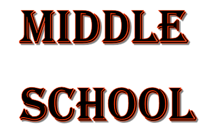 Decoration that says 'middle school'