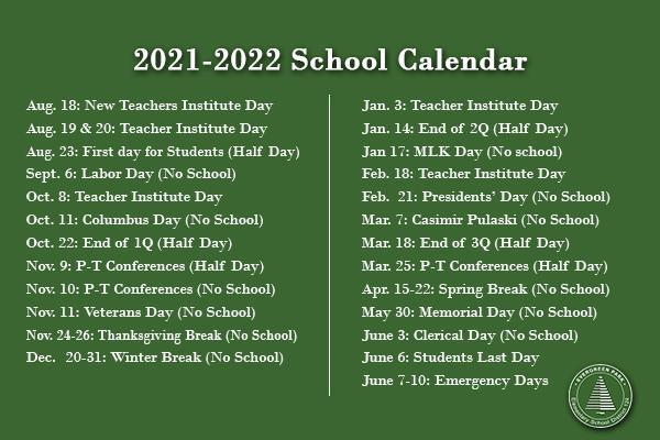 View calendar for 2021-2022 school year Thumbnail Image