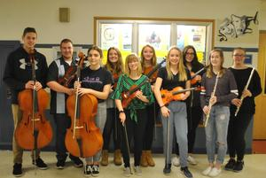 Students attending District Orchestra