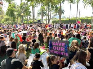 BHUSD Students' Community Walkout - Oct. 12