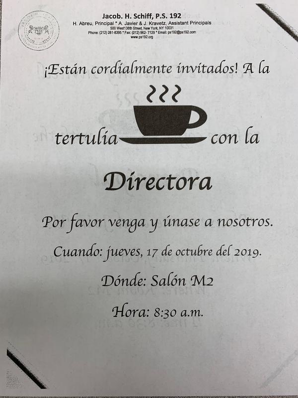 Coffee w/ Principal Spanish