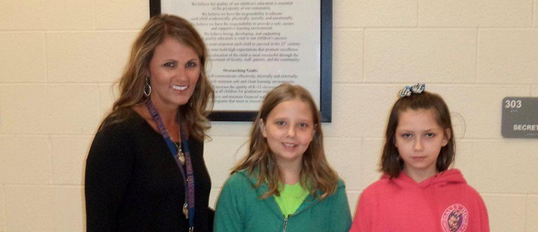 Mrs. Mulkey and students