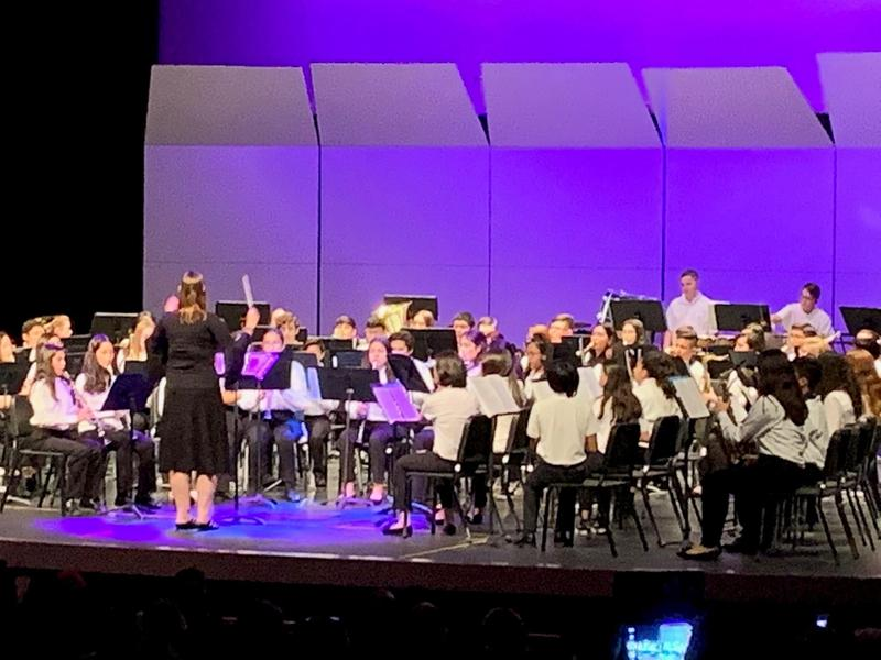McCabe band students participate in rehearsal and perform in the Imperial Honor Band on January 25, 2020. Thumbnail Image