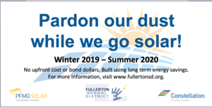 Pardon our dust - Solar is coming to Raymond