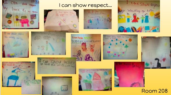 Room 208 draws how they can show respect