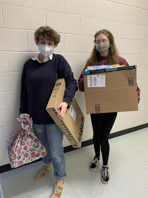 """The Smithfield High School Beta Club is providing gifts to 20 local children this holiday season through its annual """"Angel Tree'' program."""
