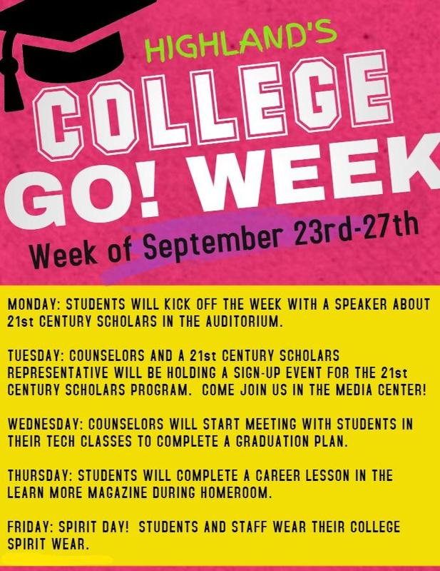 Flyer for College Go Week!