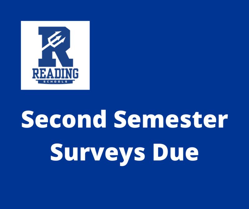 Second Semester Surveys Due