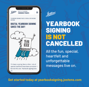 Flyer from Jostens for Yearbook Virtual Signing.