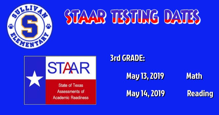 3rd testing dates