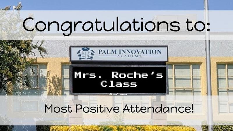 Congrats to Ms. Roche's class!