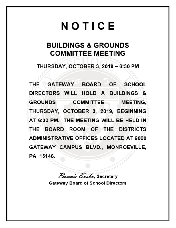 Buildings and Grounds flyer