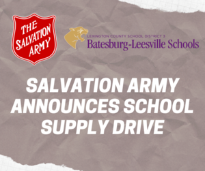 Salvation Army Announces School Supply Drive