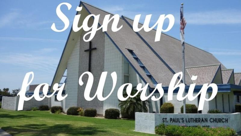 Sign up for Worship - October 24-25 Featured Photo