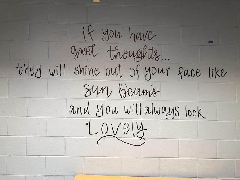 quote painted on the wall