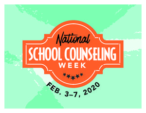 National School Counseling Week 2020 (#NSCW2020) is Feb. 3–7, 2020.  The week, sponsored by the American School Counselor Association (ASCA), highlights the unique contribution of school counselors within U.S. school systems and the tremendous impact they can have in helping students achieve school success and plan for a career. Take a moment to thank your local school counselor(s). Follow #NSCW2020 on social media.