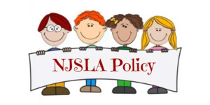 NJSLA Policy Clip Art with students holding banner