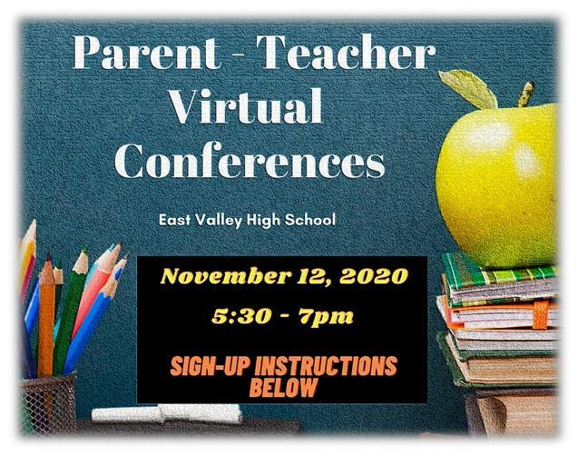 Parent Teacher Virtual Conference Invite Image