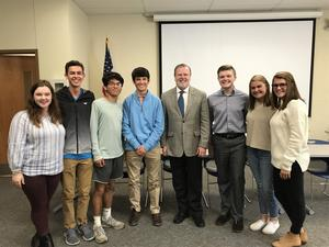 Phil Berger and Students