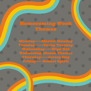 different theme each day for homecoming week